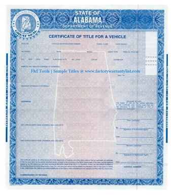 Alabama Vehicle Title