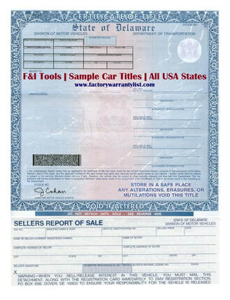 Delaware Vehicle Title