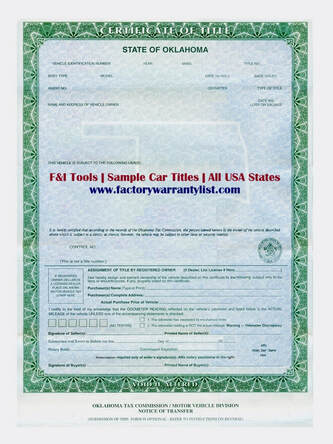 Oklahoma Vehicle Title