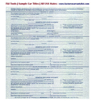 Backside of Rhode Island Vehicle Title