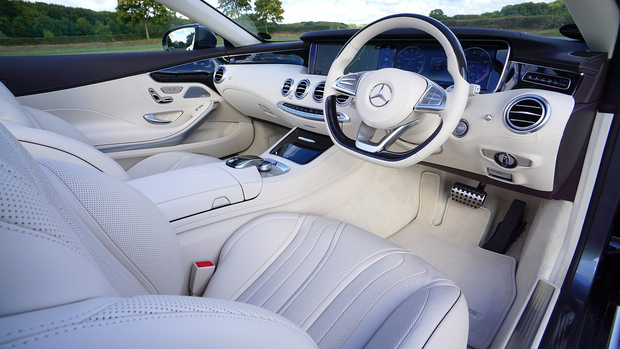 Mercedes-Benz White Leather Interior