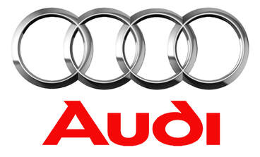 Audi Brand Logo with Four Rings