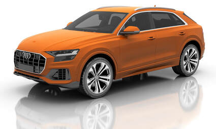 Audi Q8 SUV in Orange