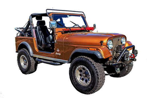 Jeep CJ Wrangler Sahara in Orange